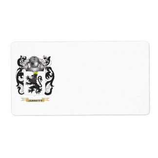 Jarrett Coat of Arms (Family Crest) Shipping Label