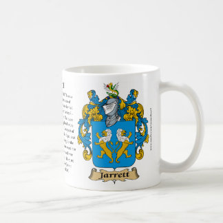 Jarrett, the Origin, the Meaning and the Crest Mug