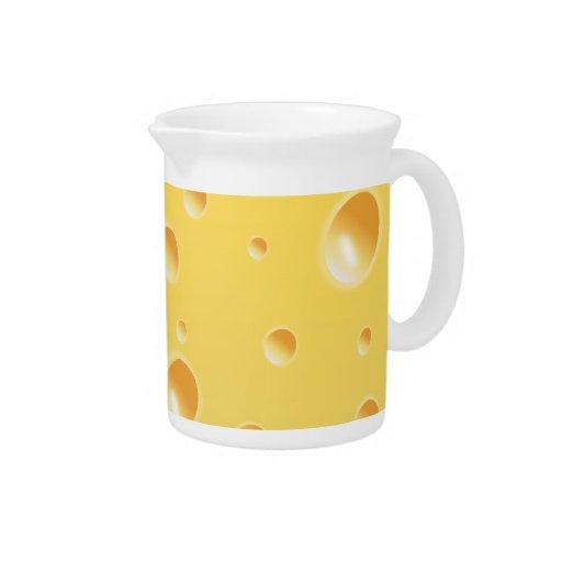 Jarro amarillo de la jarra de la textura del queso