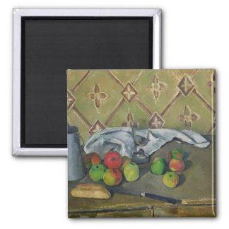 Jarro de la fruta, de la servilleta y de leche, c. imán cuadrado