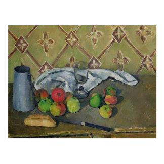 Jarro de la fruta, de la servilleta y de leche, tarjetas postales
