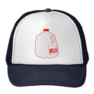 Jarro de leche gorros