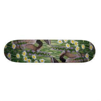 Jarro de leche oxidado colorido tabla de patinar