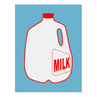 Jarro de leche tarjeta postal