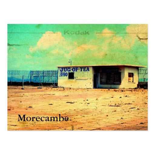 Jarro de Morecambe de té Tarjeta Postal
