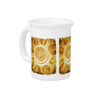 Jarro de oro del batik del girasol jarrón