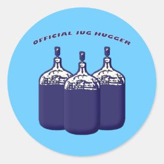 Jarro oficial Hugger Pegatina Redonda