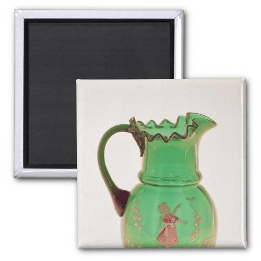 Jarro verde de Maria Gregory con el esmalte encend Iman Para Frigorífico