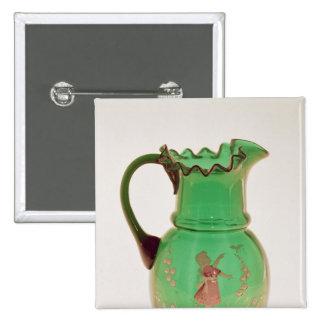 Jarro verde de Maria Gregory con el esmalte encend Pin