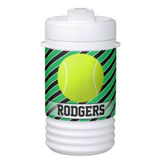 Jarro verde del tenis y negro de encargo del vaso enfriador igloo