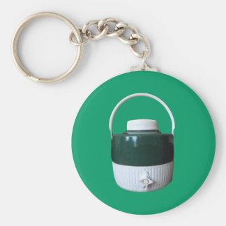 Jarro verde y blanco de la comida campestre llaveros personalizados