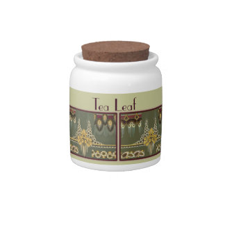 Jars: Deco Tea Leaf Candy Dishes