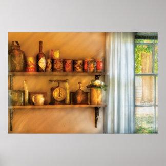 Jars - Kitchen Shelves Print
