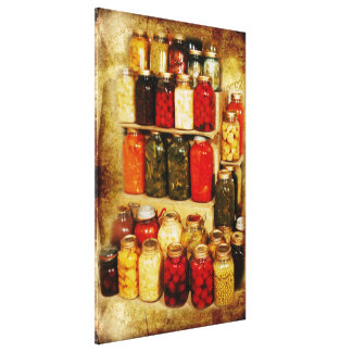 Jars of home-canned food gallery wrap canvas
