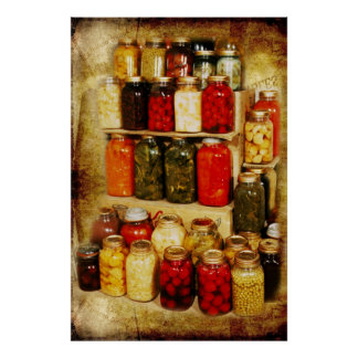 Jars of home-canned food poster
