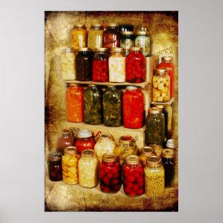 Jars of home-canned food print