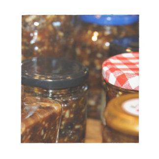 Jars of mincemeat memo note pad