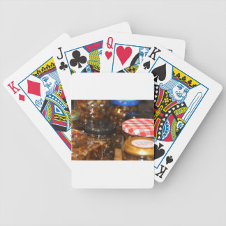 Jars of mincemeat playing cards