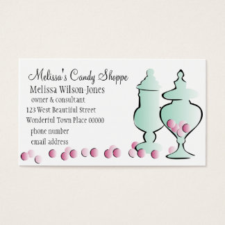 Jars with Pink Candy Business Card