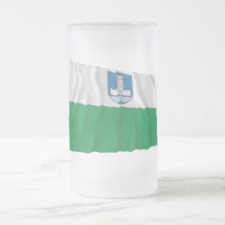Järva Waving Flag Frosted Glass Beer Mug