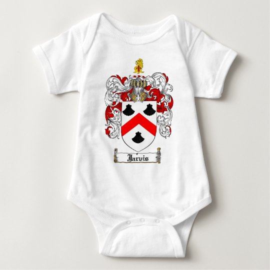 JARVIS FAMILY CREST -  JARVIS COAT OF ARMS BABY BODYSUIT