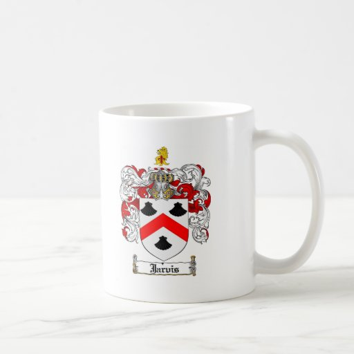 JARVIS FAMILY CREST -  JARVIS COAT OF ARMS COFFEE MUGS