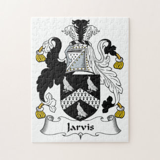 Jarvis Family Crest Jigsaw Puzzle