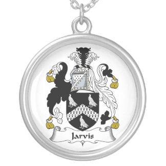 Jarvis Family Crest Round Pendant Necklace