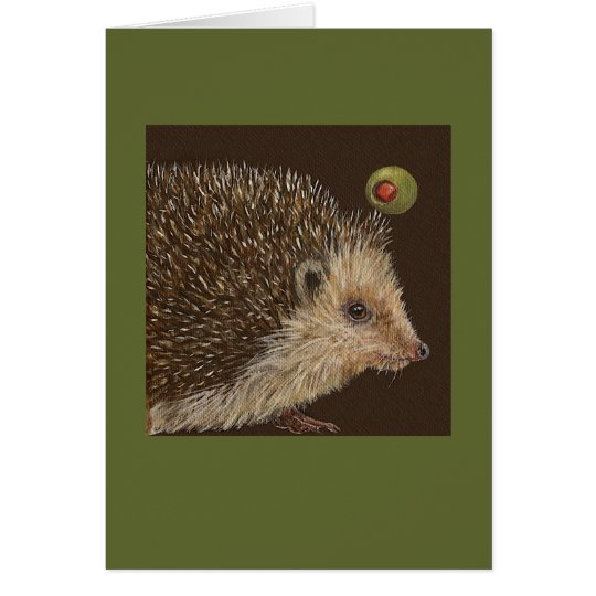 Jarvis the hedgehog card