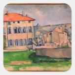 Jas de Bouffan, 1885-87 Pegatina Cuadrada