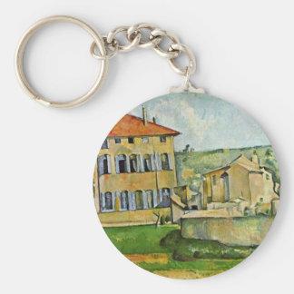 Jas De Bouffan By Paul Cézanne (la mejor calidad) Llavero Redondo Tipo Pin