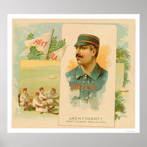 Jas Fogarty Rare Baseball 1888 Posters