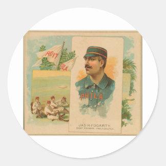 Jas. H. Fogarty, Philadelphia Quakers Classic Round Sticker