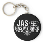 Jas Has My Back Keychain
