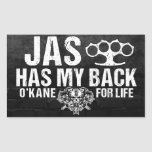 Jas Has my Back Sticker