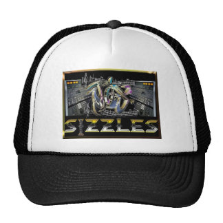 jas sizzles logo trucker hat