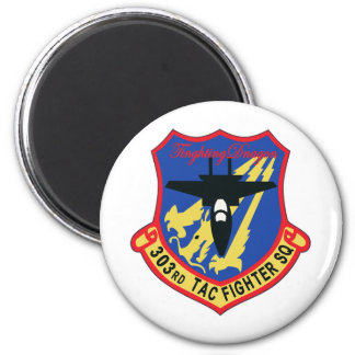 JASDF 303SQ Fighter Squadron Patch 2 Inch Round Magnet