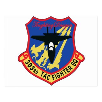JASDF 303SQ Fighter Squadron Patch Postcard