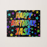 "[ Thumbnail: ""Jase"" First Name, Fun ""Happy Birthday"" Jigsaw Puzzle ]"