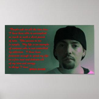 Jasen Sousa Addiction Love Quote Poster