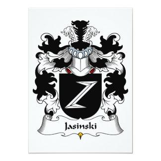 Jasinski Family Crest Card