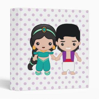 Jasmine and Aladdin Emoji 3 Ring Binder
