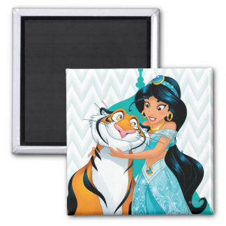 Jasmine and Rajah 2 Inch Square Magnet