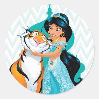Jasmine and Rajah Classic Round Sticker