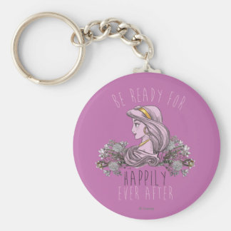 Jasmine - Be Ready For Happily Ever After Basic Round Button Keychain