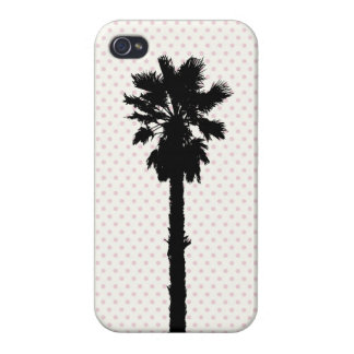 Jasmine: Beach Polka Dot Palm Tree iPhone 4 Case