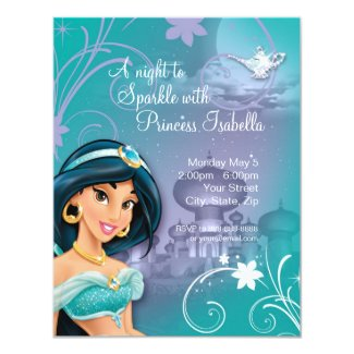 Disney Princess Jasmine Personalized Birthday Invitations