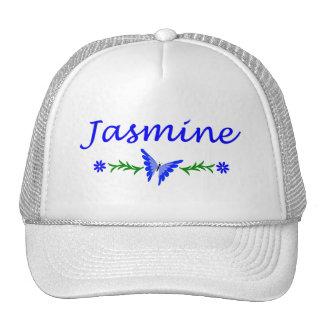 Jasmine Blue Butterfly Trucker Hats