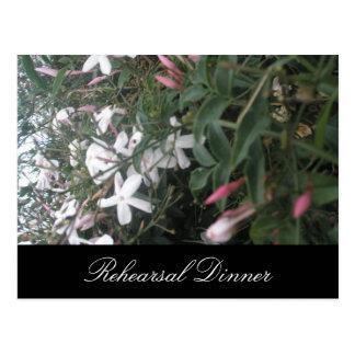 Jasmine Bush Wedding Rehearsal Dinner Invite Postcard