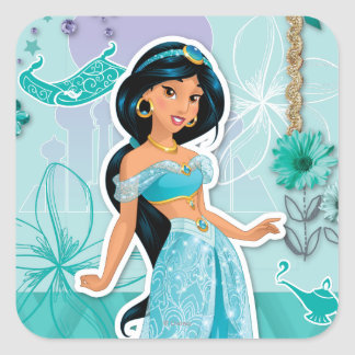 Jasmine - Courageous Square Sticker